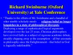 richard swinburne oxford university at yale conference