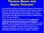 thomas bayes and bayes theorem