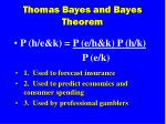thomas bayes and bayes theorem25