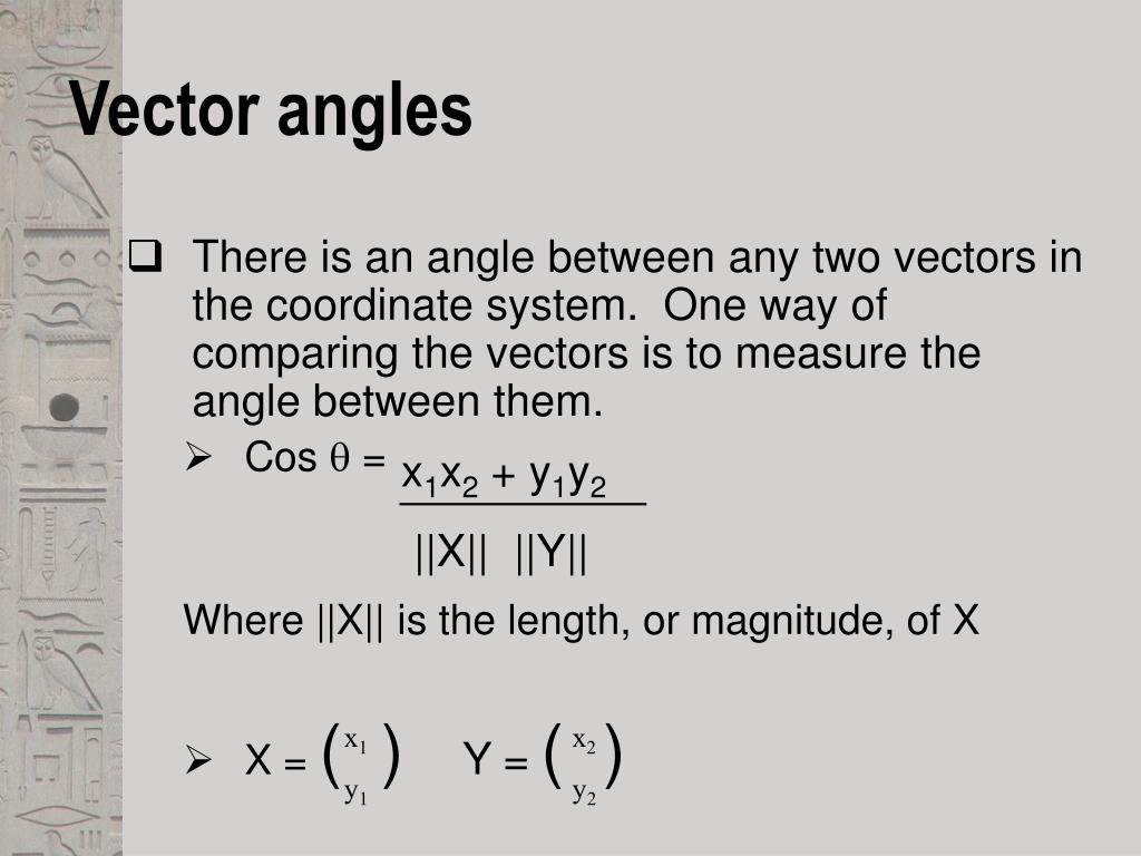 Vector angles