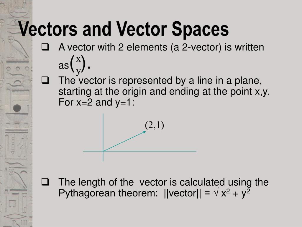 Vectors and Vector Spaces