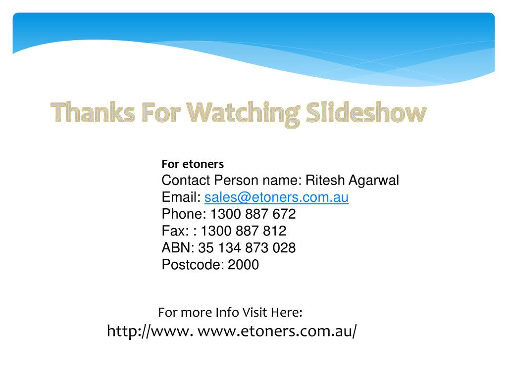 Thanks For Watching Slideshow