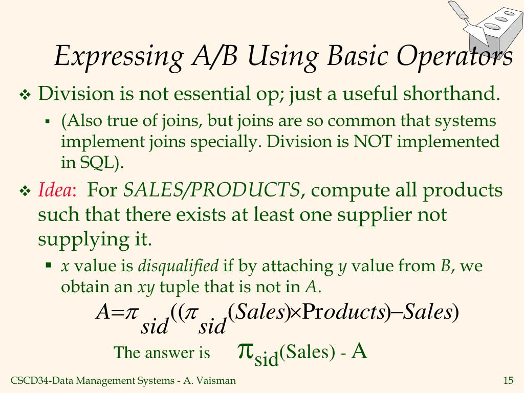 Expressing A/B Using Basic Operators