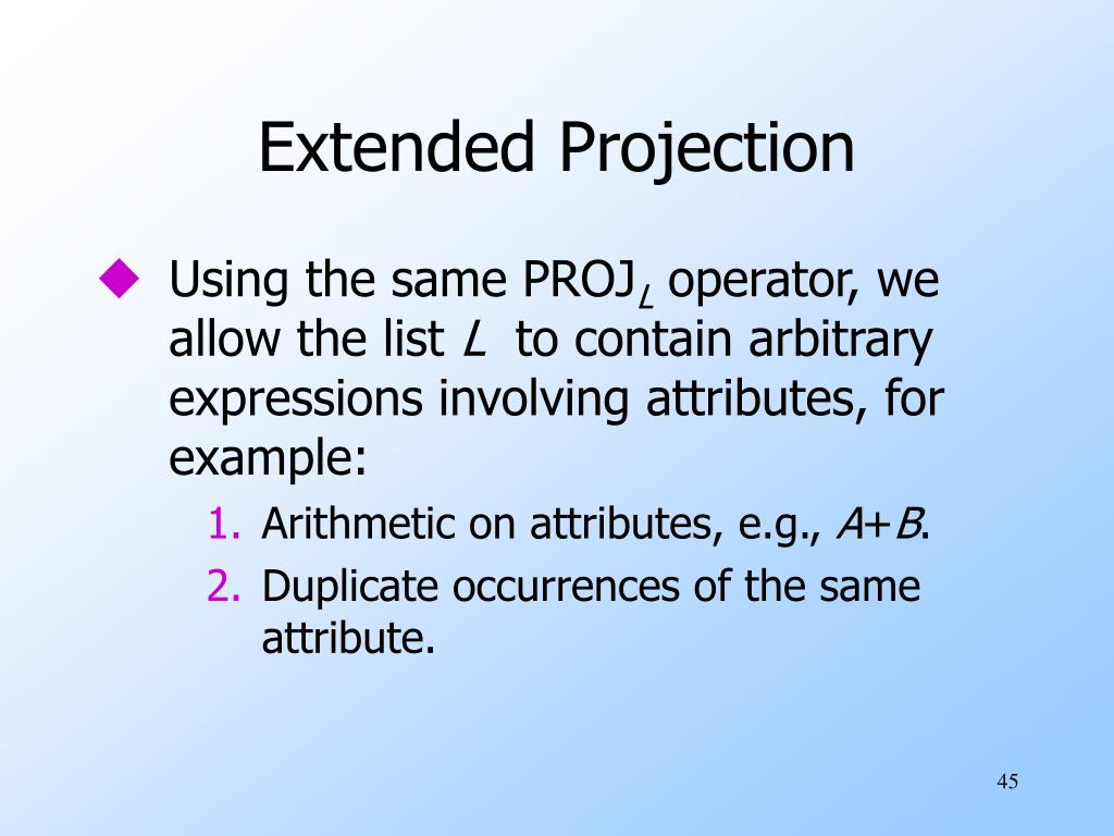 Extended Projection