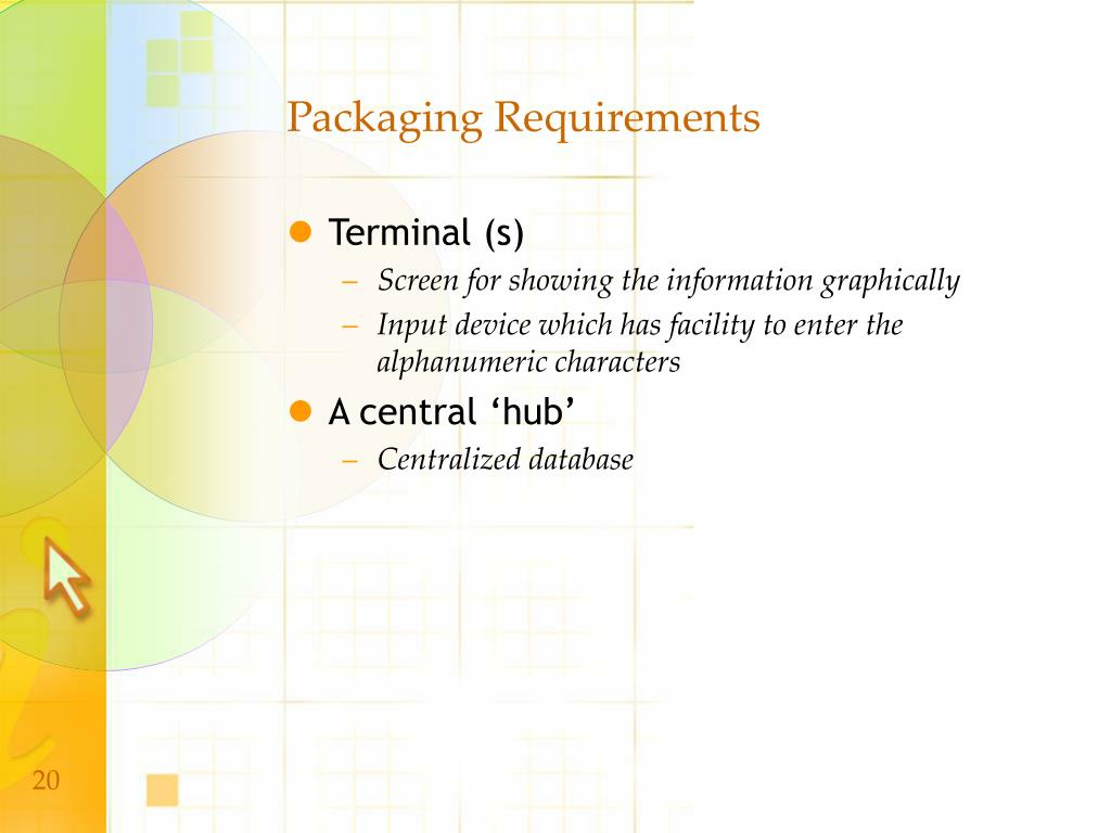 Packaging Requirements
