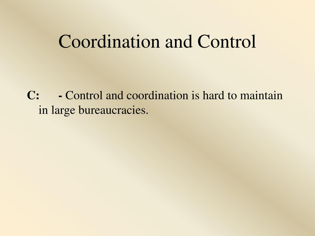 Coordination and Control