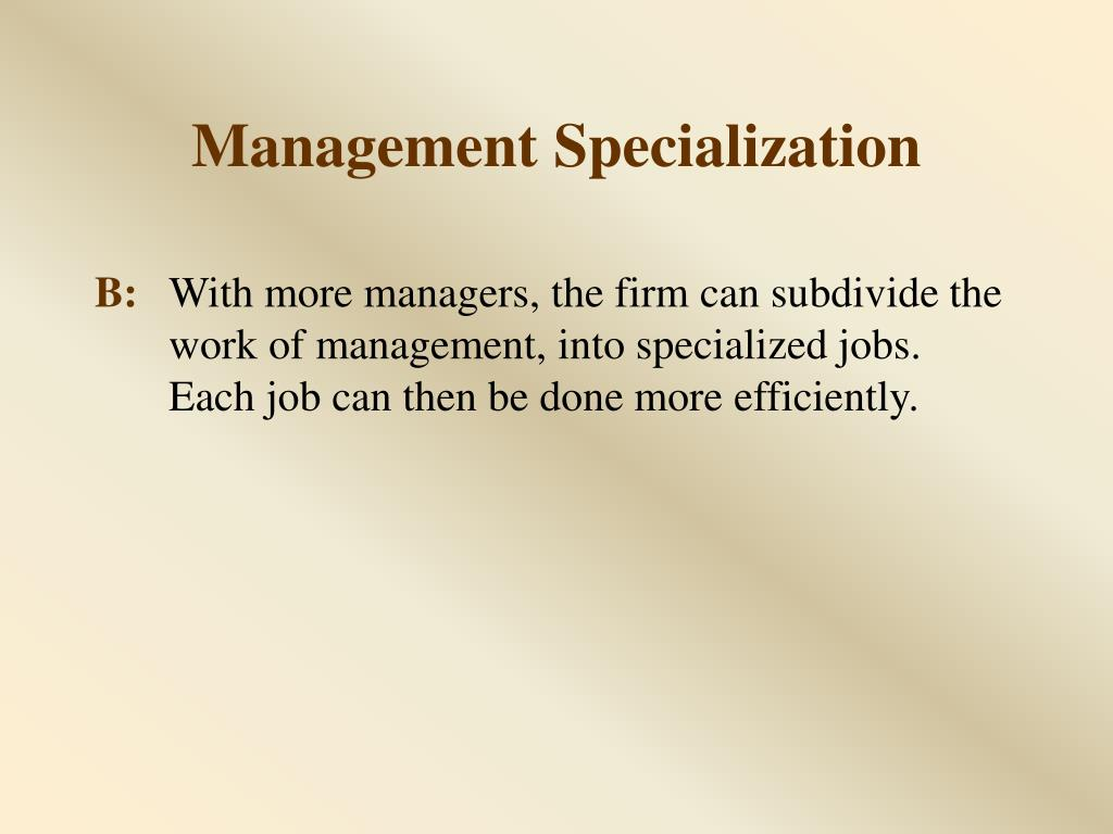 Management Specialization