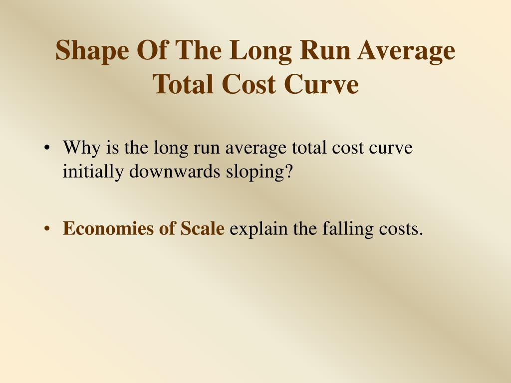 Shape Of The Long Run Average Total Cost Curve