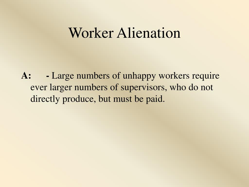 Worker Alienation