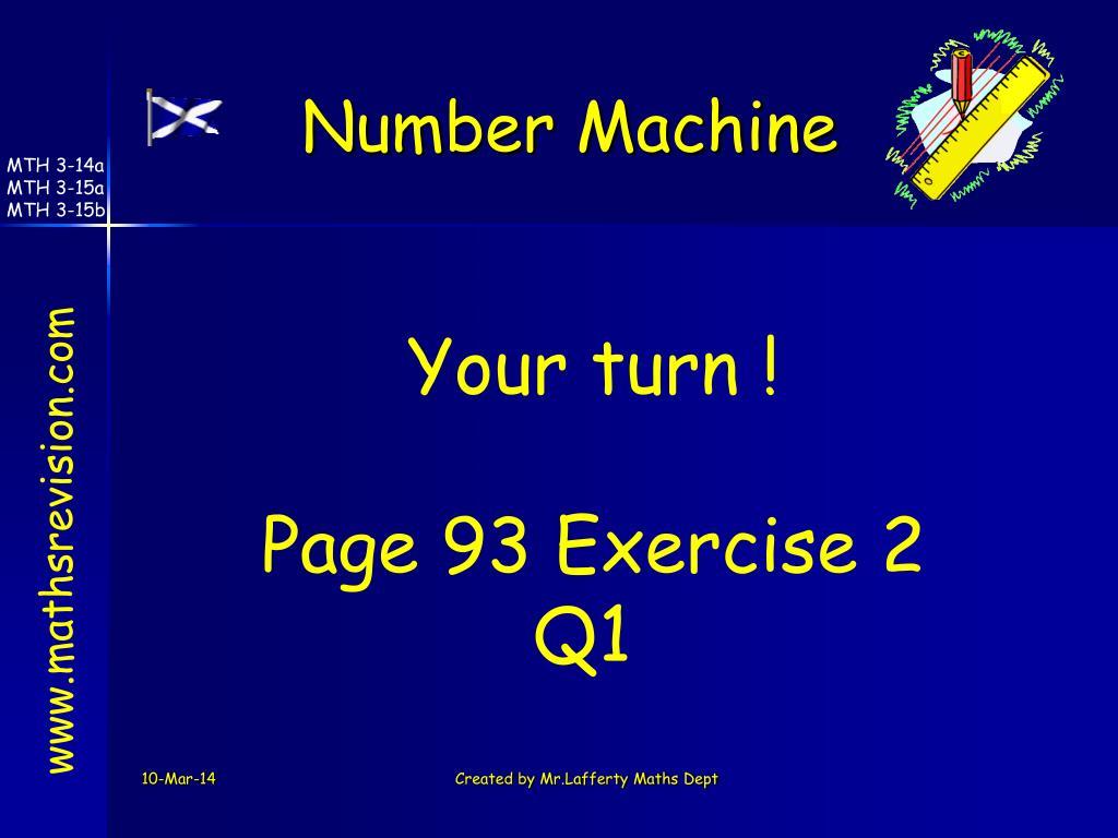 Number Machine