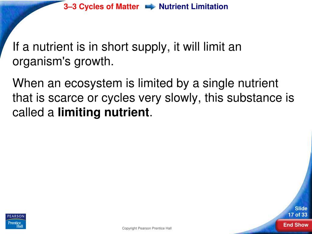 Nutrient Limitation