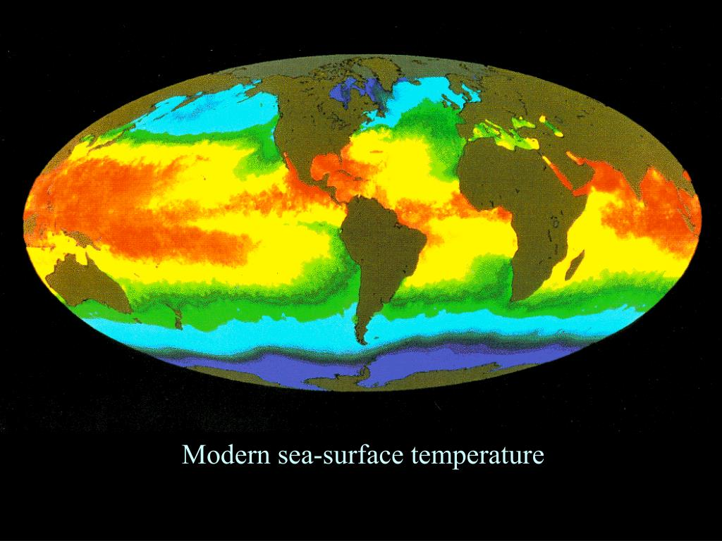 Modern sea-surface temperature