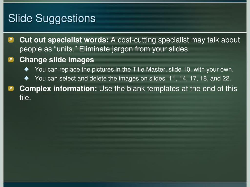 Slide Suggestions