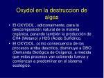oxydol en la destruccion de algas