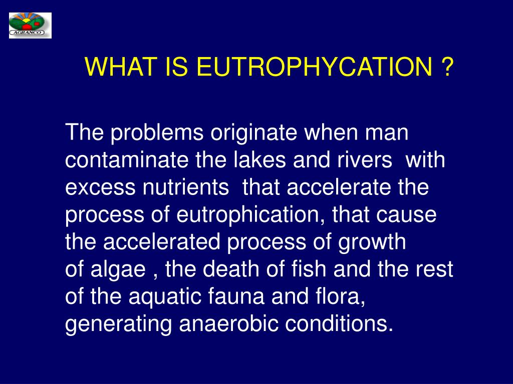 WHAT IS EUTROPHYCATION ?