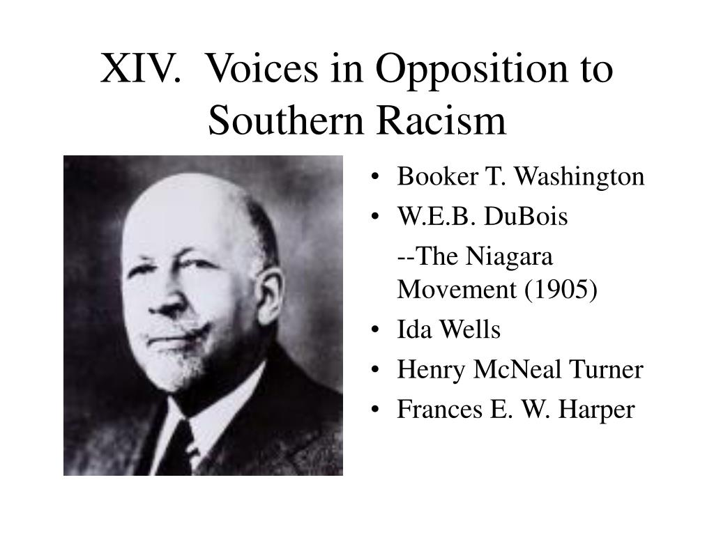 XIV.  Voices in Opposition to Southern Racism