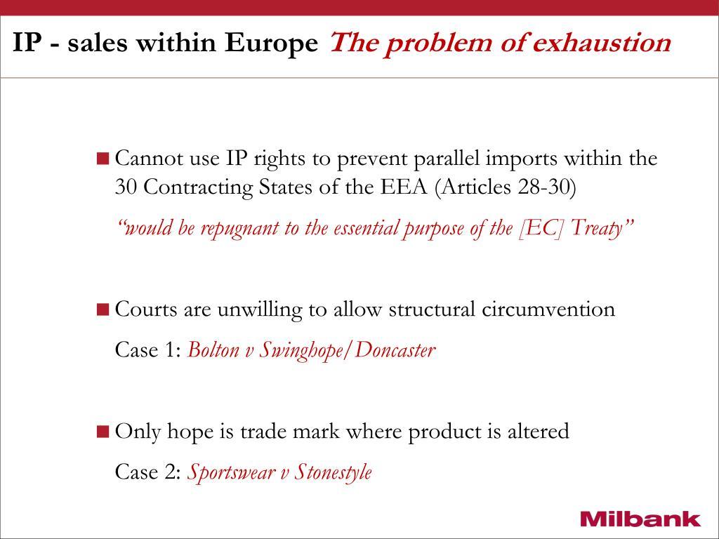 IP - sales within Europe
