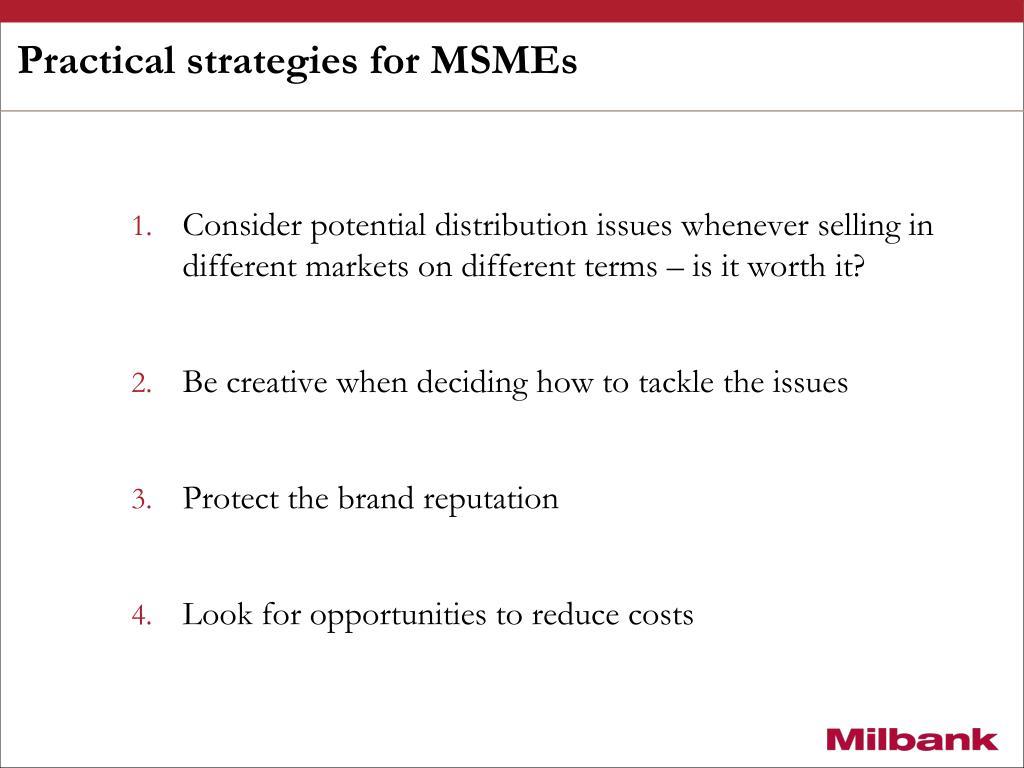Practical strategies for MSMEs