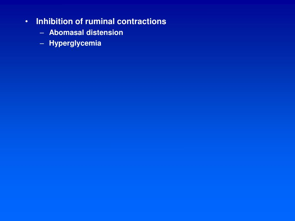 Inhibition of ruminal contractions