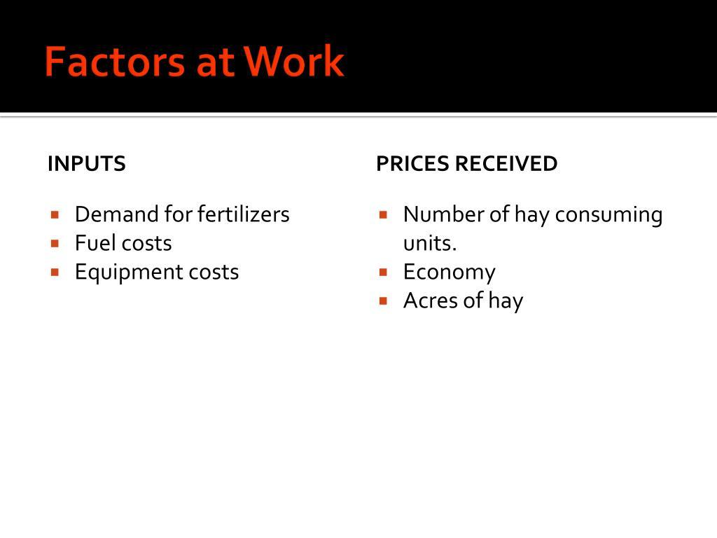Factors at Work