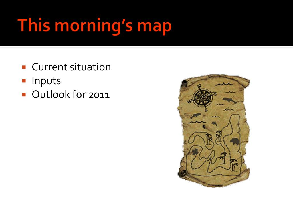 This morning's map