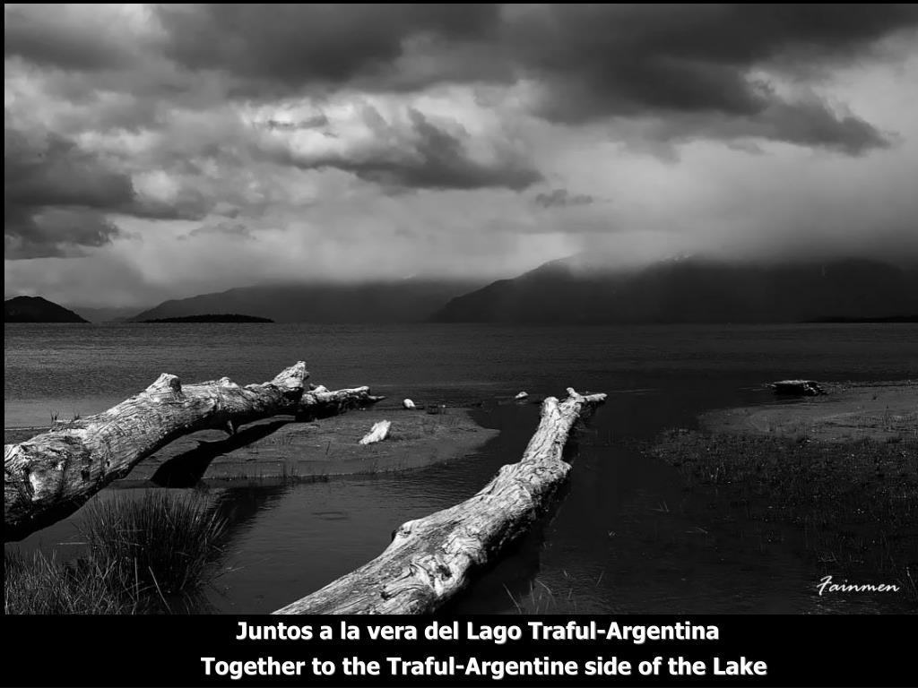 Juntos a la vera del Lago Traful-Argentina