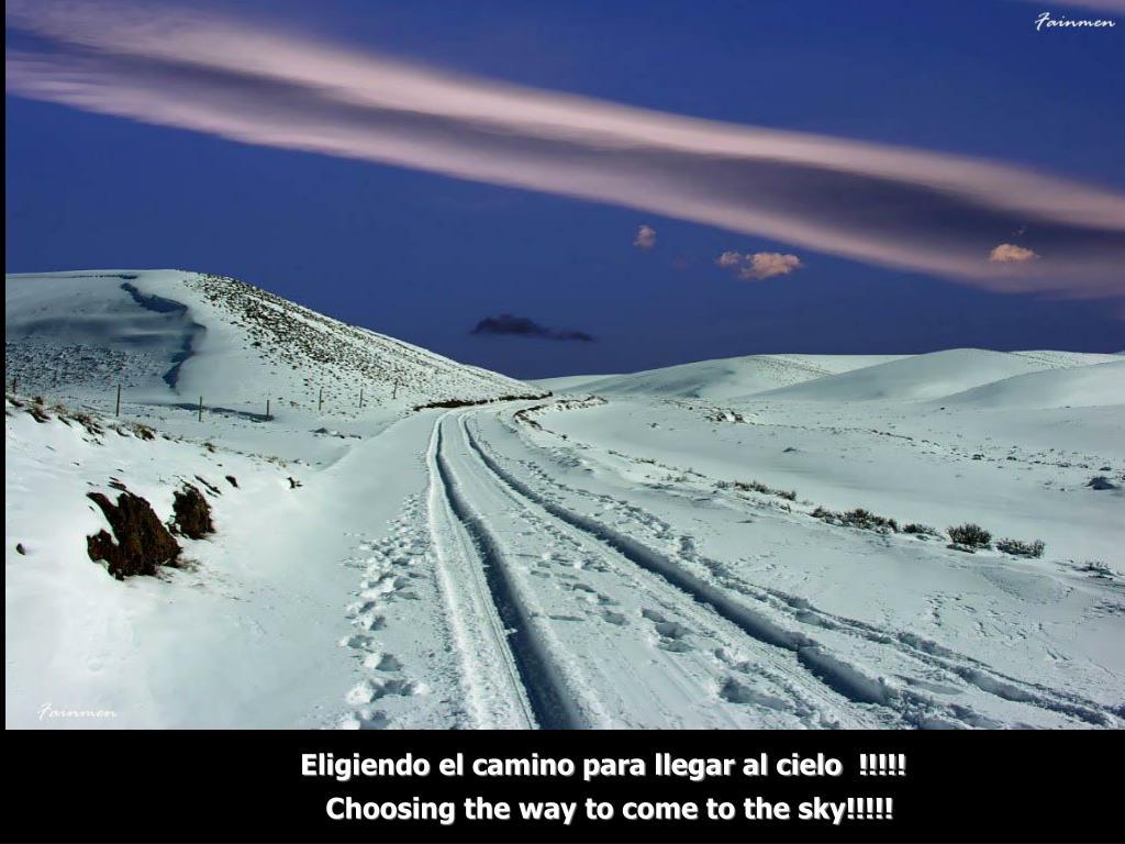 Eligiendo el camino para llegar al cielo  !!!!!