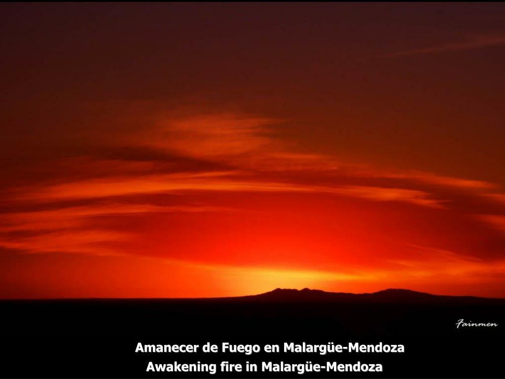 Amanecer de Fuego en Malargüe-Mendoza