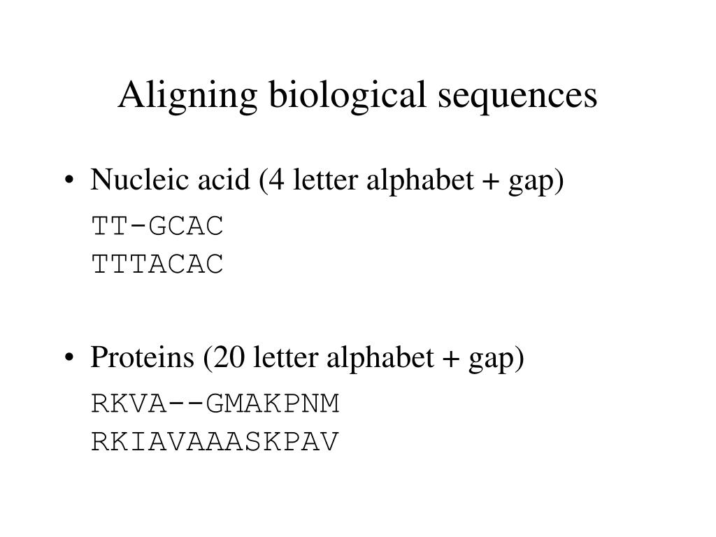 Aligning biological sequences