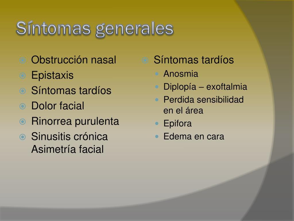 Síntomas generales