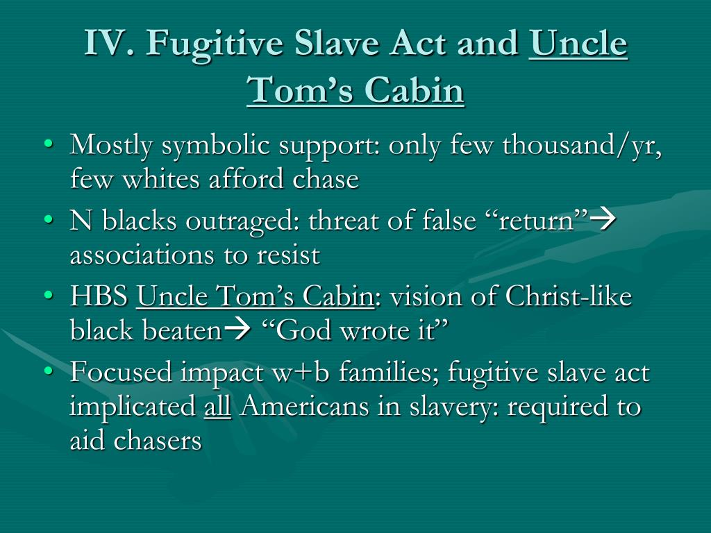 IV. Fugitive Slave Act and