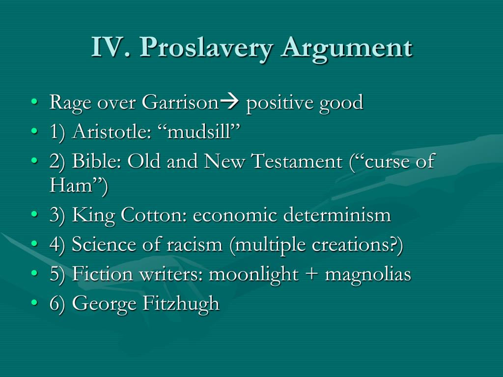 IV. Proslavery Argument
