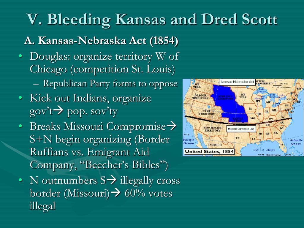 V. Bleeding Kansas and Dred Scott