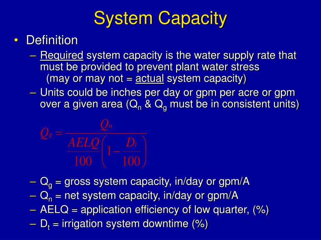 System Capacity