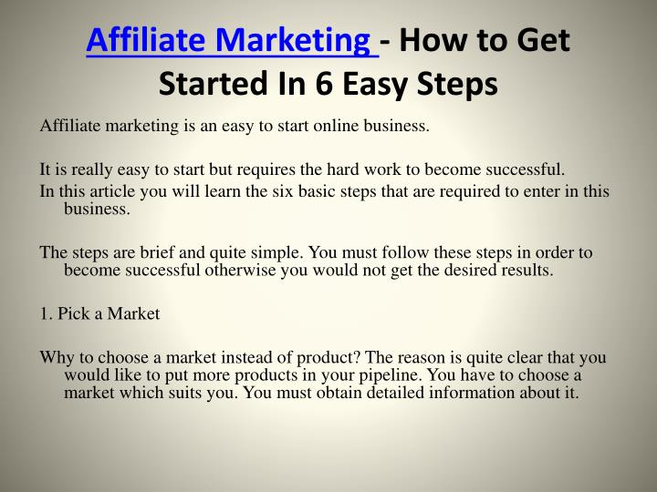 Affiliate marketing how to get started in 6 easy steps2