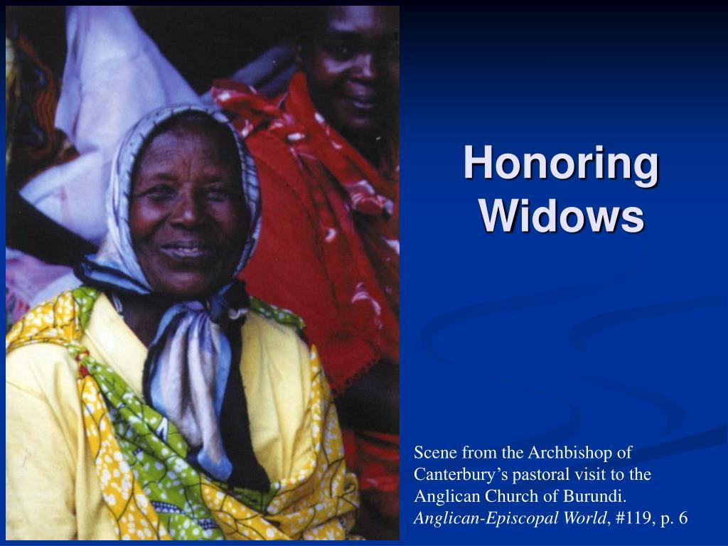 Honoring Widows