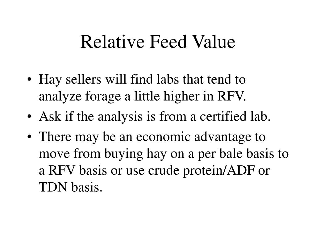 Relative Feed Value