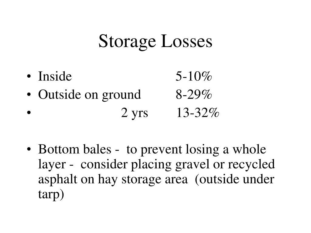 Storage Losses