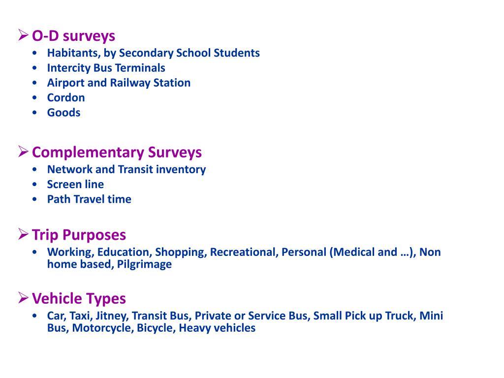 O-D surveys
