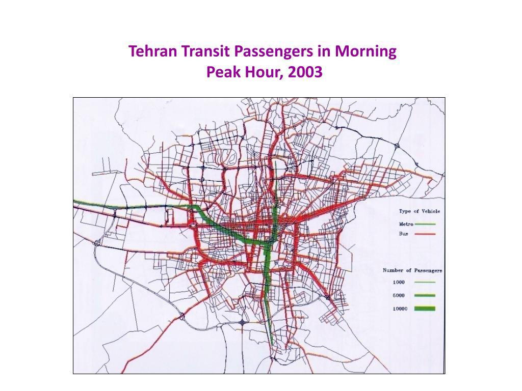 Tehran Transit Passengers in Morning
