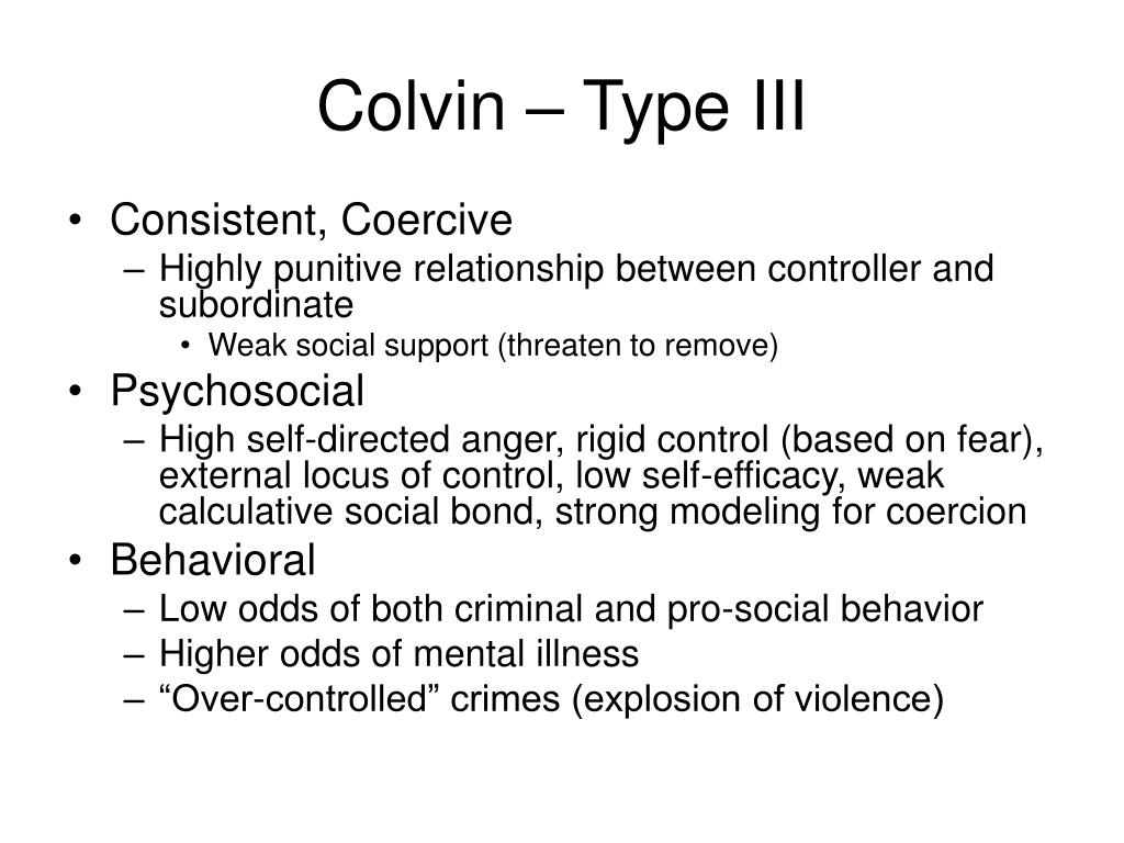 Colvin – Type III