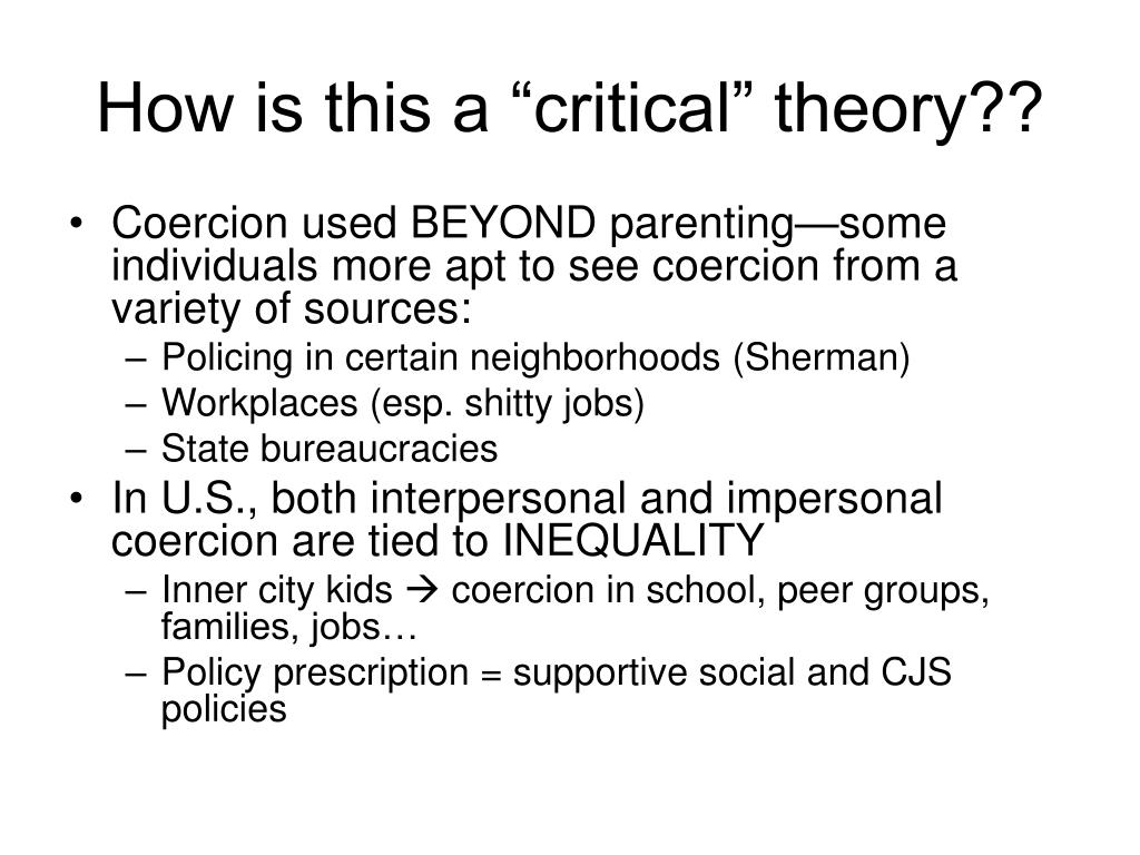 """How is this a """"critical"""" theory??"""