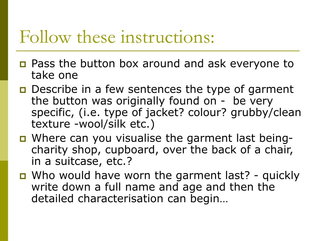 Follow these instructions: