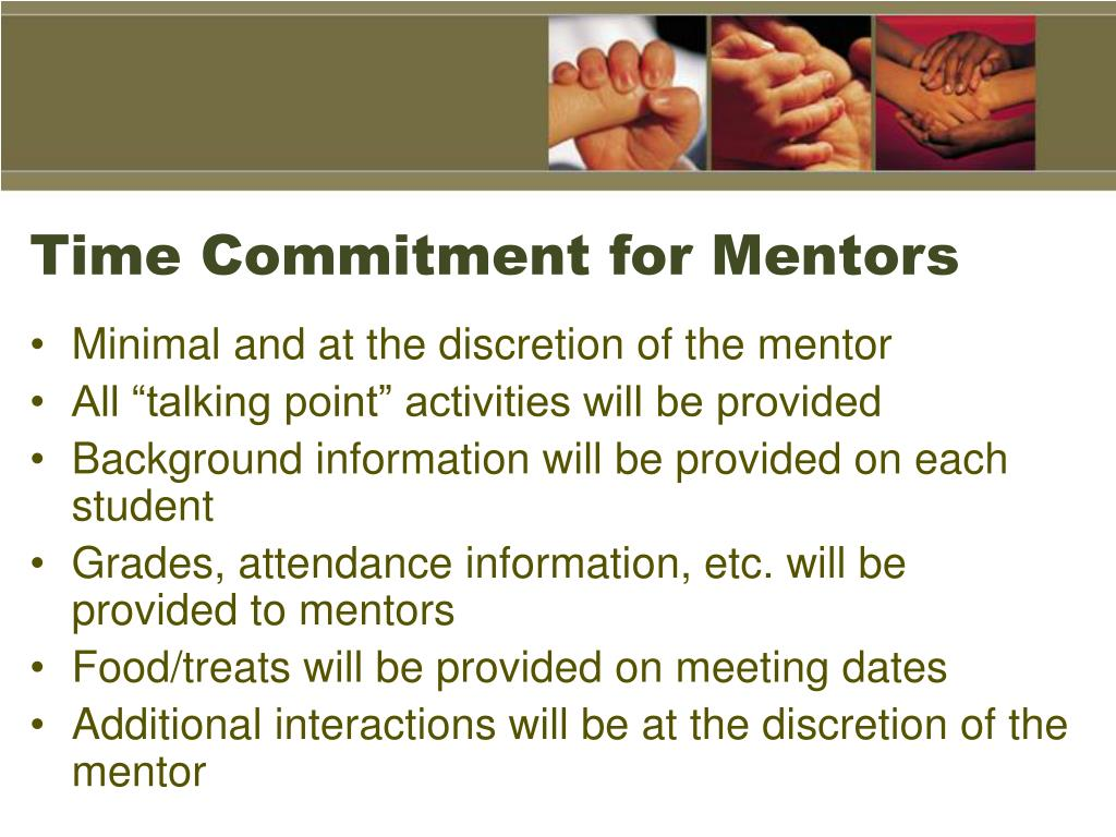 Time Commitment for Mentors