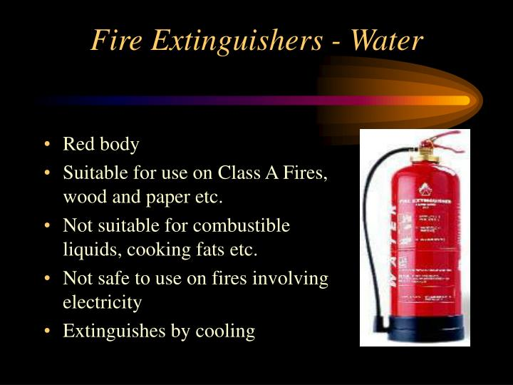 Fire Extinguishers - Water