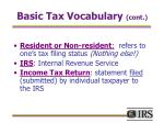 basic tax vocabulary cont