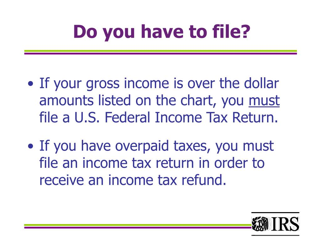 Do you have to file?