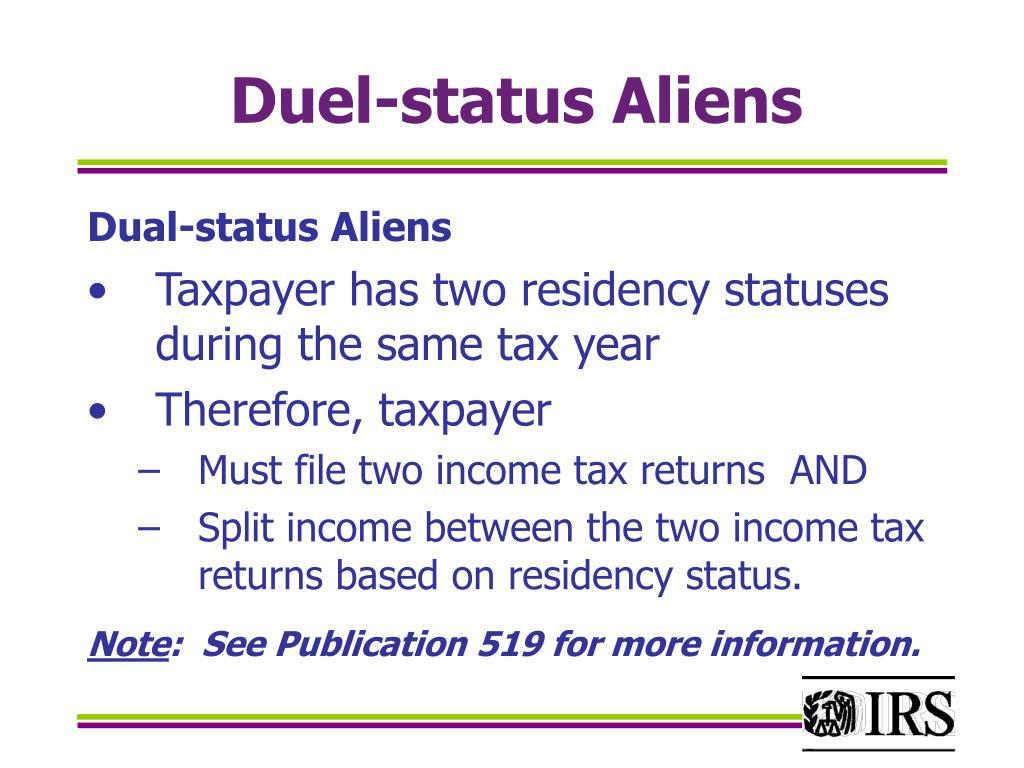 Duel-status Aliens