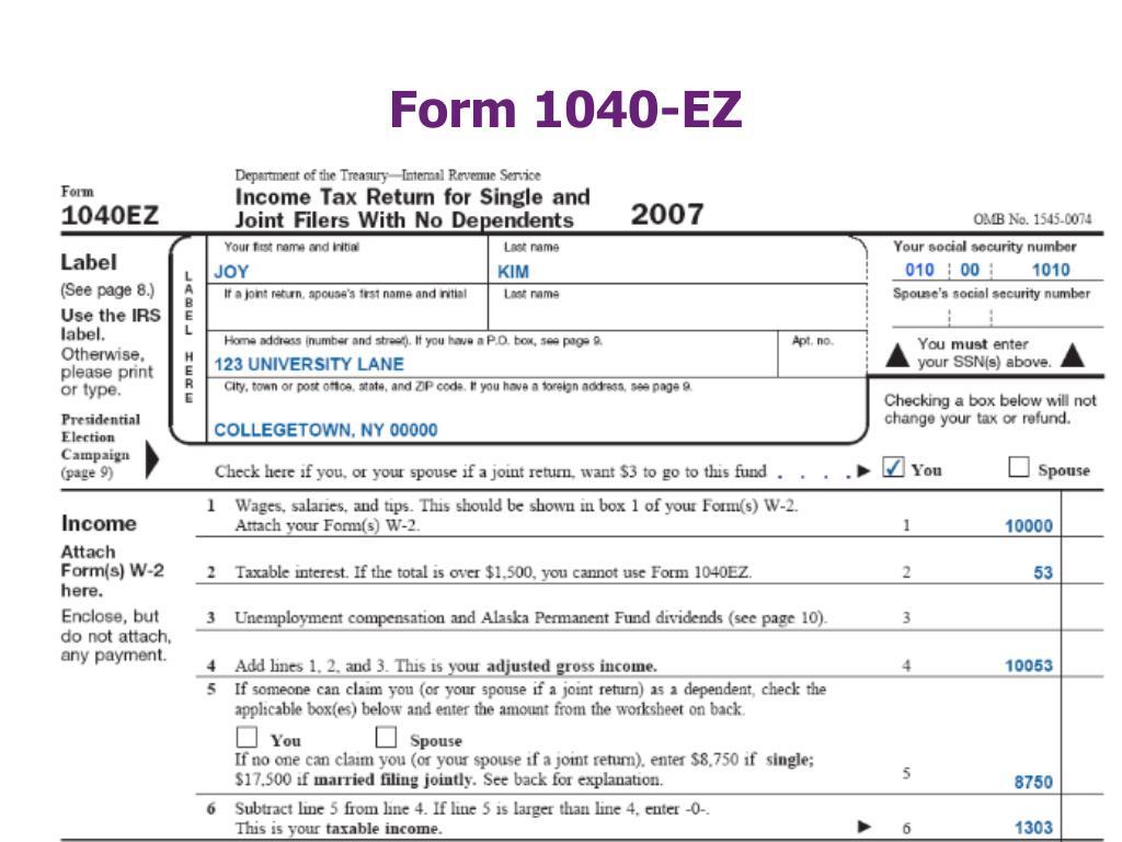 Form 1040-EZ