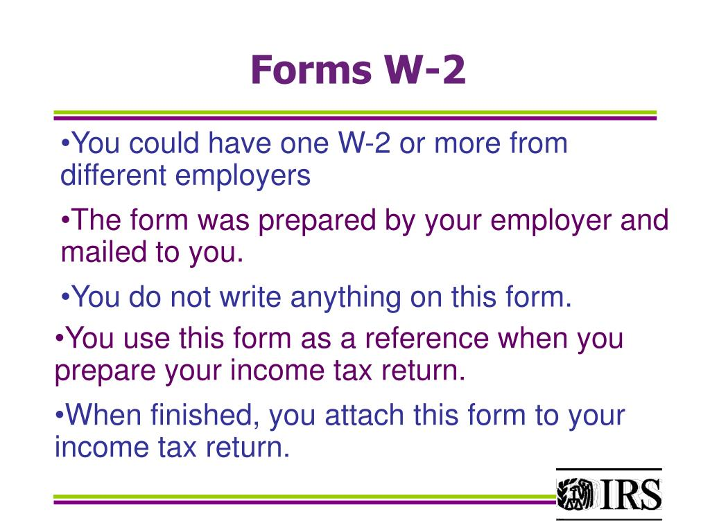 Forms W-2